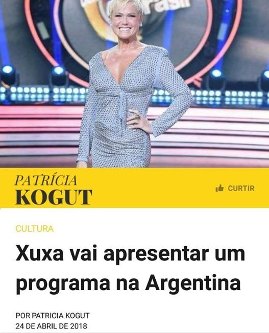 xuxa programa argentina